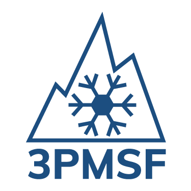 Logo de certification 3 peaks mountain snow flake